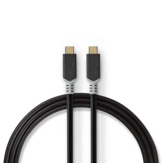Cablu USB 3.2-C Gen 2 T-T 20Gb/s 5A/100W 2m, Nedis CCBW64020AT20