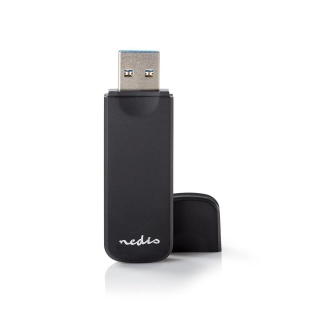 Cititor de carduri USB 3.2 la microSD/MMC / SD, Nedis CRDRU3100BK