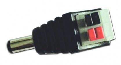 Bloc terminal la DC 2.1x5.5mm tata cu clips pentru CCTV, DC-M/2.1X5.5-TBC