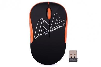 Mouse wireless optic A4Tech Negru/Orange, G3-300N-BO