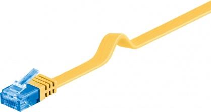 Cablu de retea RJ45 CAT 6A flat UTP 3m Galben, Goobay 96329