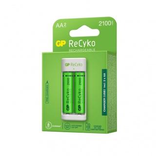 Incarcator NiMH (AA/AAA) + 2 acumulatori 2100 mAh AA (R6), GP Batteries GPACSE211001