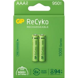 Set 2 acumulatori ReCyko 1000mAh AAA (LR03) 1.2V NiMH, GP Batteries