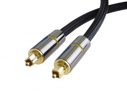 Cablu audio digital Toslink brodat 2m, kjtos7-2