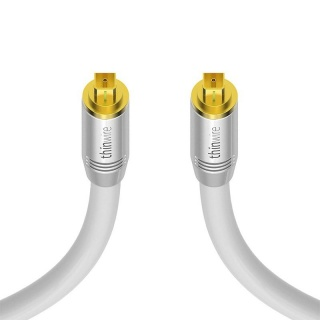 Cablu audio optic Toslink T-T 3m Alb, KOM-TW400030