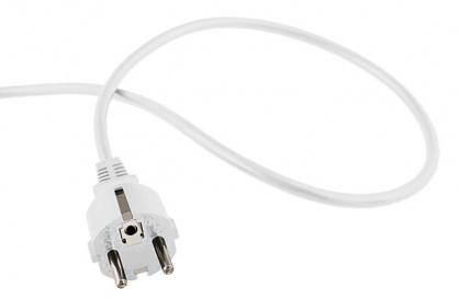 Cablu de alimentare Schuko la fire deschise 2m Alb, kpsft2w