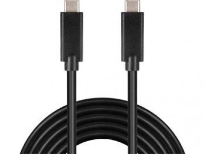 Cablu USB 3.2 Gen 2x2-C la USB-C 3A 20Gbit/s T-T 1m, ku31cg1bk