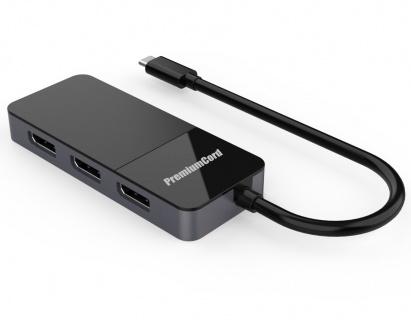 Adaptor USB-C la 3 x Displayport 8K@60Hz MST + HDR 10, KU31DP08