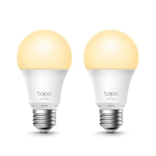 Set 2 buc bec Wi-Fi inteligent cu reglarea intensitatii luminii E27 8.7W, TP-LINK Tapo L510E(2-pack)