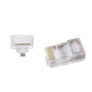 Set 100 conectori RJ45 UTP cat 5e, Gembird LC-PTU-01/100