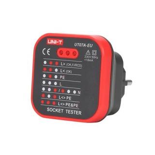 Tester priza 230V AC UT07A-EU UNI-T, MIE0270
