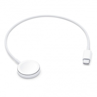 Cablu de incarcare USB-C pentru Apple Watch 0.3m Alb, Apple MX2J2ZM/A