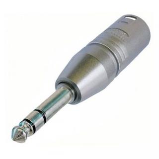 Adaptor XLR 3 pini la jack stereo 6.35mm T-T, Neutrik NA3MP