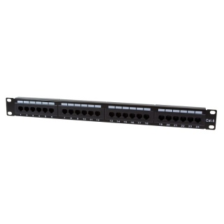 Patch panel 24 porturi cat. 6 UTP, Logilink NP0004