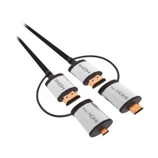 Cablu HDMI + adaptoare micro HDMI/mini HDMI 1.5m, OCHBA1G
