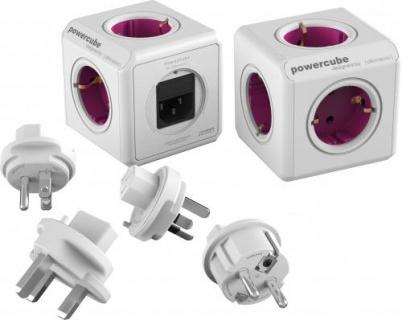 Prelungitor in forma de cub PowerCube Rewirable + 4 adaptoare, Allocacoc