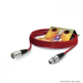 Cablu prelungitor XLR 3 pini T-M Rosu 10m, SGHN-1000-RT