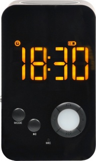 Boxa portabila bluetooth + functie de ceas + radio FM + slot micro SD, Spacer SP-DY-38