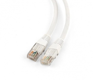 Cablu de retea RJ45 cat 5e UTP 0.25m Alb, Spacer SP-PT-CAT5-0.25M