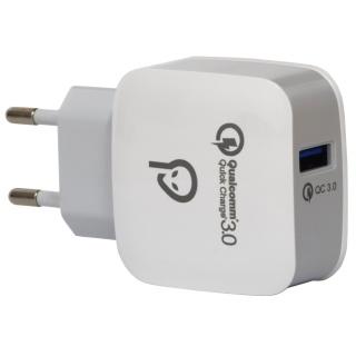 Incarcator priza 1 x USB-A Quick Charge 3.0 18W, Spacer SPAR-USBQ-01