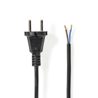 Cablu de alimentare Schuko la 2 fire deschise 15m Negru, Nedis VCPC110CBK150