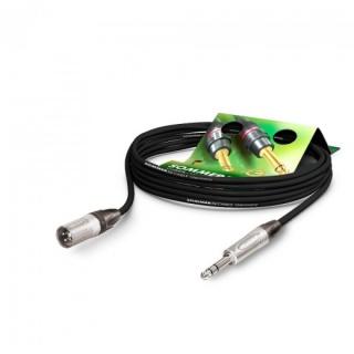 Cablu audio XLR 3 pini la jack stereo 6.35mm T-T 5m, NEUTRIK SGN4-0500-SW