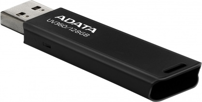 Stick USB 3.2 UV360 128GB Negru, ADATA AUV360-128G-RBK