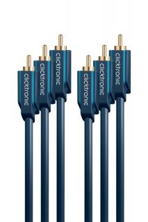 Cablu audio 3 x RCA la 3 x RCA T-T 15m, Clicktronic CLICK70429