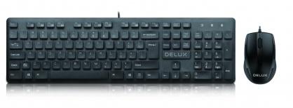 Kit tastatura + mouse USB Negru, Delux KA150U+M321BU