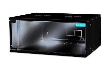 """Cabinet 19"""" 4U montare perete 225x515x400mm, Spacer SPCW-4U-BK"""