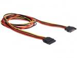 Cablu prelungitor alimentare SATA 15 pini 100cm, Delock 60133