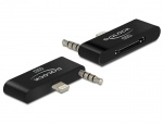 Adaptor Lightning IPhone 5 cu Audio la IPhone 4 30 pini, Delock 65493
