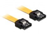 Cablu SATA III 6 Gb/s drept-drept clips metalic 70 cm, Delock 82813