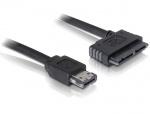 Cablu eSATAp la Micro SATA 16 pini 5V 0.5m, Delock 84415