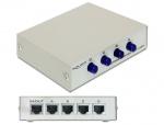 Switch Ethernet RJ45 10/100 Mb/s 4 Porturi manual, Delock 87588