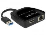 Adaptor USB 3.0 la HDMI + Gigabit LAN, Delock 62522