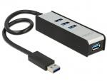 HUB extern 4 porturi USB 3.0, Delock 62534