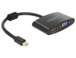 Adaptor mini Displayport la HDMI / VGA T-M, Delock 65553