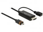 Cablu Slimport/MyDP la HDMI + micro USB-B 1.5m, Delock 83534