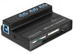 Cititor de carduri All in 1 + Hub cu 3 Porturi USB 3.0, Delock 91721